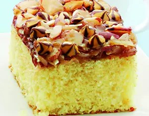Recipe for Caramel-Almond Coconut Cake