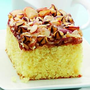 Caramel-Almond Coconut Cake