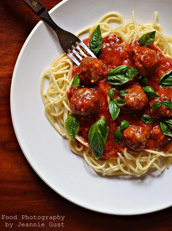 Recipe for Spaghetti and Spicy Meatballs