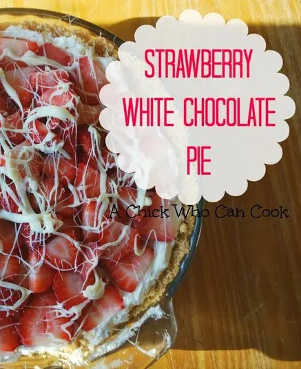 This Strawberry White Chocolate Pie an amazing pie! It is creamy and the taste is delicious.  So if you can find some amazing strawberries, before the season is over, get some now and make this pie!