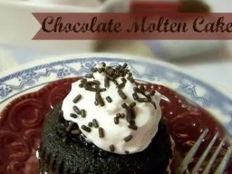 Recipe for Chilis Knockoff Chocolate Molten Cake