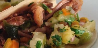 Recipe for Slow Cooker Pork Tacos with Pineapple Salsa