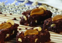 Recipe for Sweet and Salty Caramel Cashew Brownies
