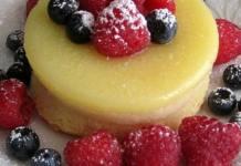 Recipe for Lemon Pudding Cake