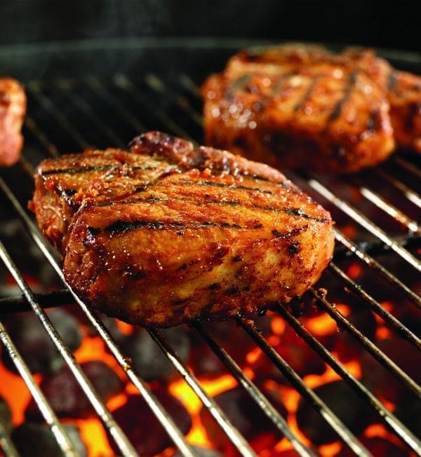 Sweet Fire Porterhouse Pork Chops