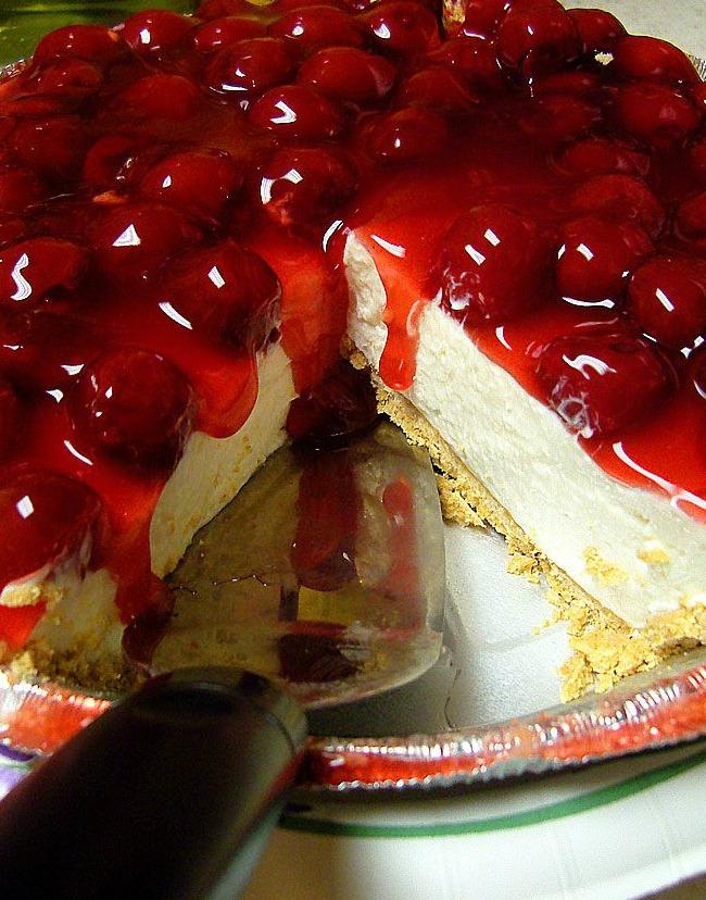 Cherry-Berry Low Fat Fake Cheesecake