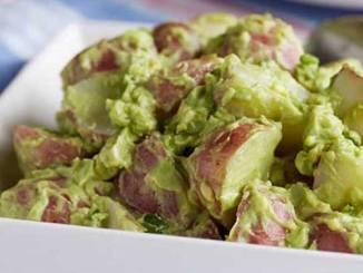 Creamy Vegan Avocado Potato Salad - Create a new tradition with this delicious Guacamole Potato Salad made with red potatoes and Fresh Avocados.