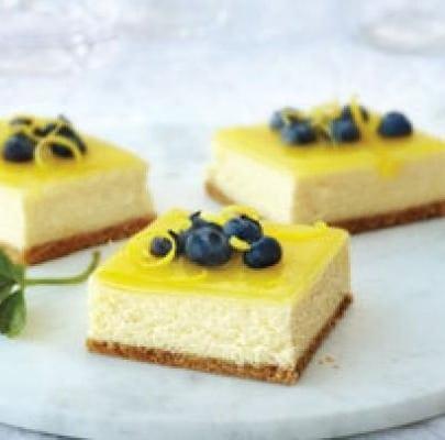 Double Lemon Cheesecake Bars