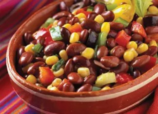 This Marinated Black Bean Salad recipe is healthy and delicious, making it perfect for potlucks, parties and busy weeks.