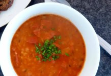 Lentils are not just for winter. Try this spruced up spring time Spanish style soup.