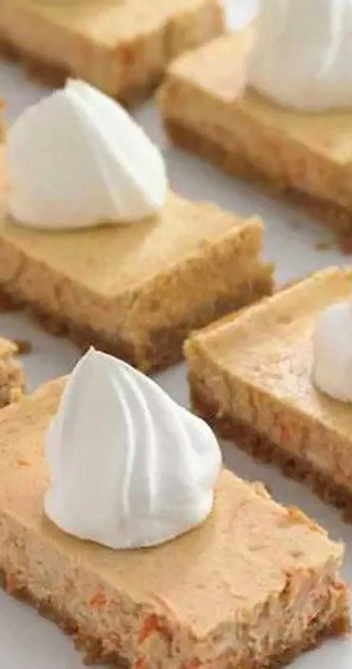 Carrot cake is often served at Easter celebrations but these carrot cheesecake bars will give it a run for its money. They are easy to prepare and a guaranteed winner. #carrotcake #cheesecake #dessert #dessertbars
