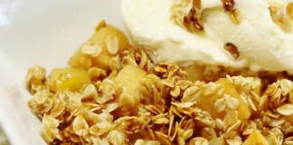 Recipe for Oatmeal Apple Crisp - GF