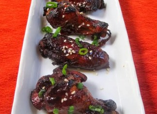 Recipe for Crockpot Honey Sriracha Chicken Wings