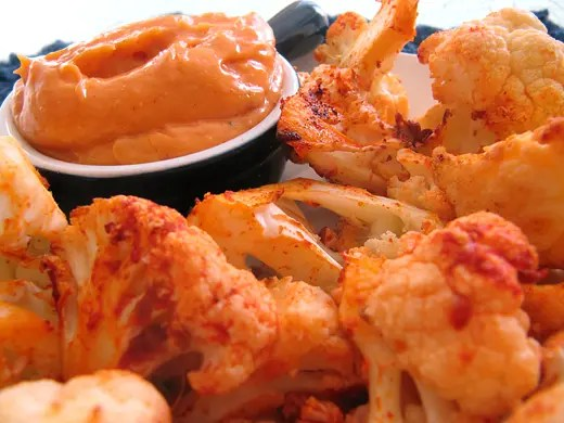 Roasted Cauliflower Dippers with Smoked Paprika Aioli
