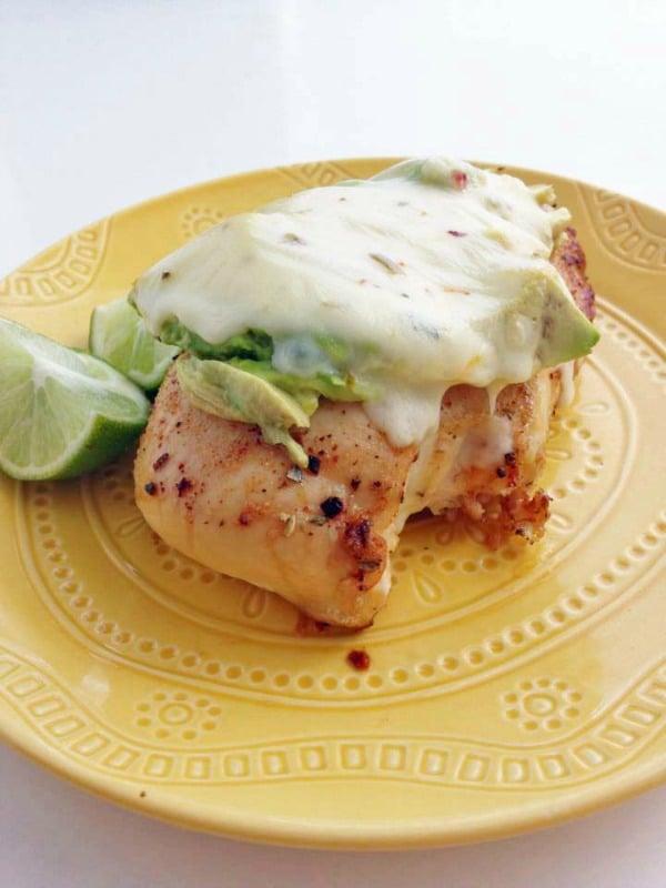 Recipe for Southwestern Chicken Avocado Melt