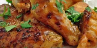 Recipe for Baked Honey Sriracha Chicken Wings