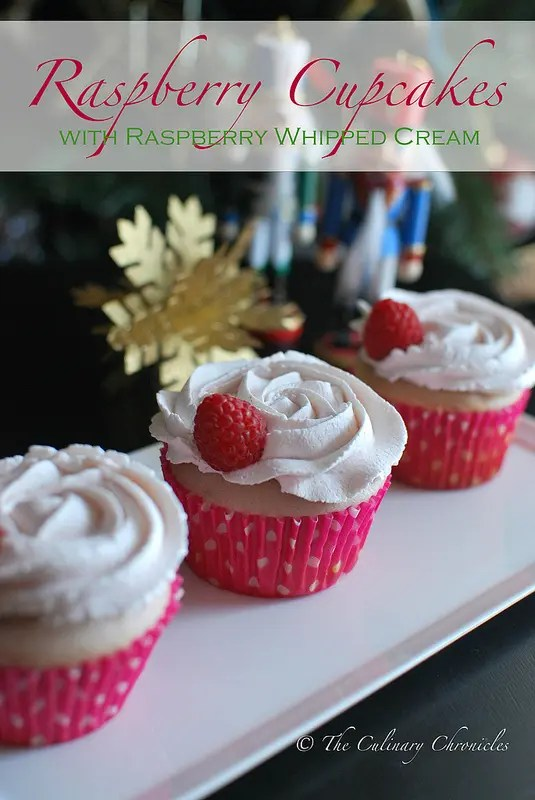 Raspberry Cupcakes with Raspberry Whipped Cream