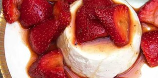My favorite dinner party dessert - Strawberry-Vanilla Panna Cotta - gorgeous, make-ahead - the perfect delicious finale for a great meal.