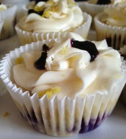 Recipe for  Blueberry Lemonade Cupcakes