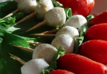 A simple twist on a traditional Caprese salad, these colorful Caprese Salad Skewers are the perfect easy, no-cook appetizer!