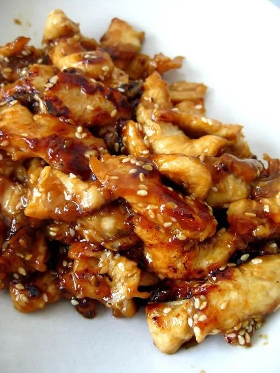 Serve thisSlow Cooker Teriyaki Chicken over rice, you don't want any of that delicious, sticky sauce going to waste.
