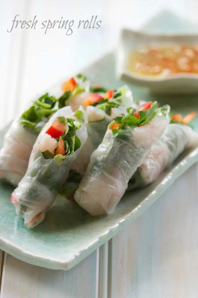 These Easy To Make Spring Rolls are even better than you'd find at a restaurant. And they are not just easy, they're incredibly healthy too! #Vietnamese #Asian #appetizer #sidedish #easyrecipe