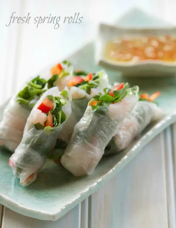 These Easy To Make Spring Rolls are even better than you'd find at a restaurant. And they are not just easy, they're incredibly healthy too!