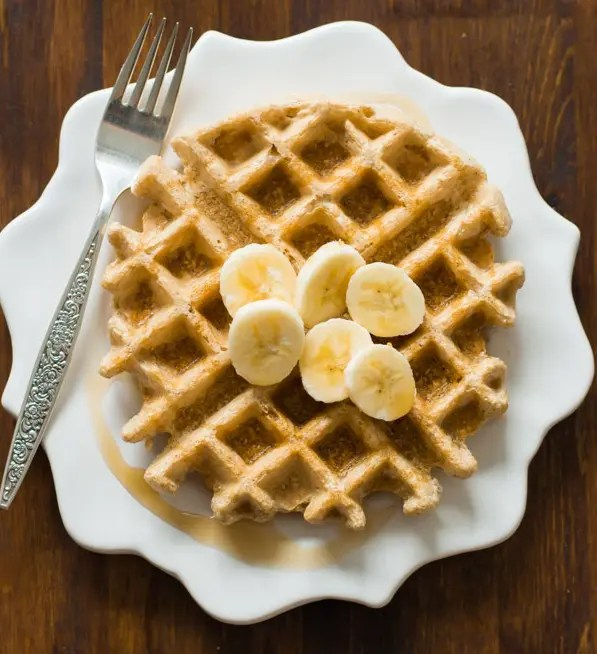 Delicious Peanut Butter Waffles