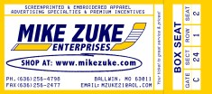 ticket business card