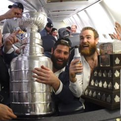The Big Rig and O'Rielly do just a little celebrating