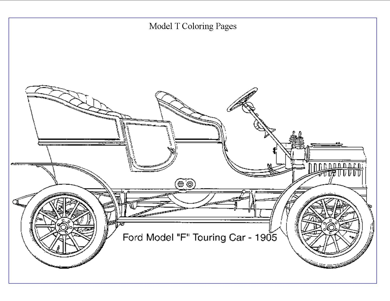 Ford Model T Coloring Sheets Coloring Pages