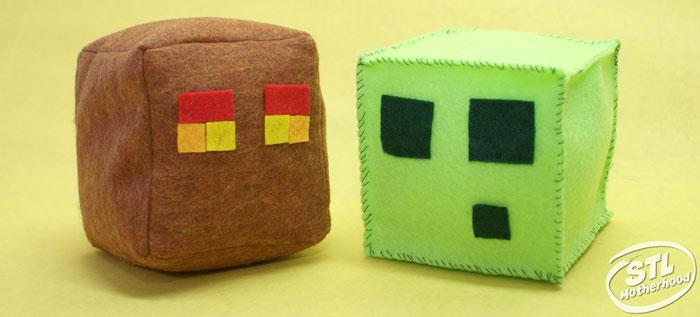 minecraft cubes felt