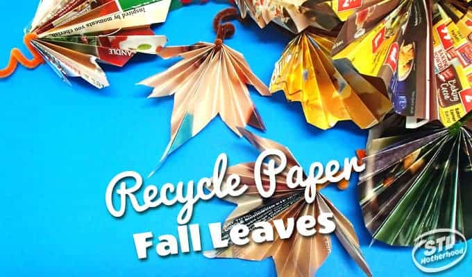 fall leaves from recycled paper