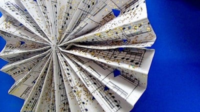 3 Music Sheet Ornaments (with Printable)