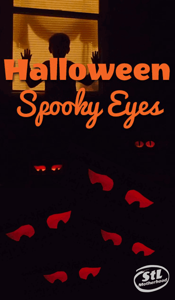 Halloween spooky eyes to decorate your yard in a flash.