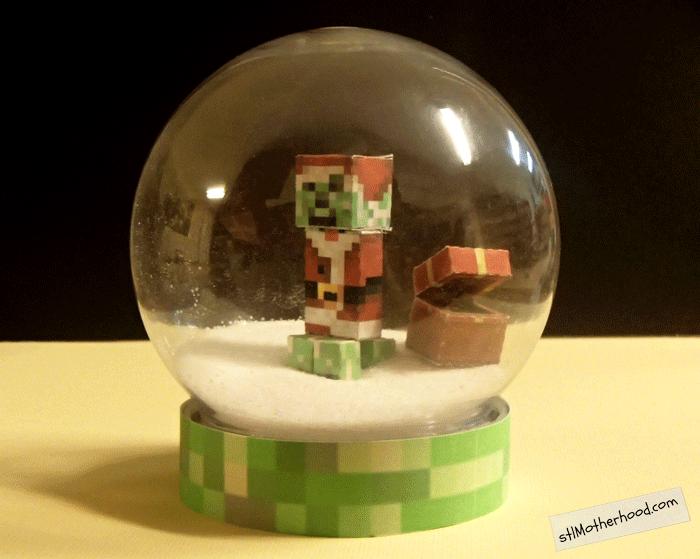 Minecraft snowglobe