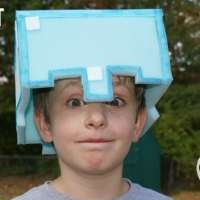 DIY: Minecraft Play Helmet from Soft Foam (free printable)