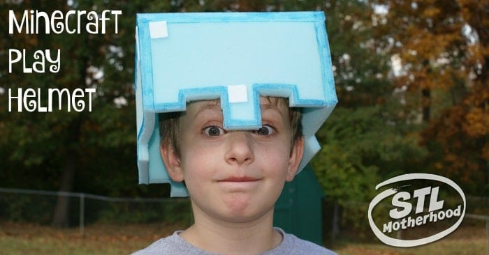DIY Minecraft Play Helmet from stlMotherhood
