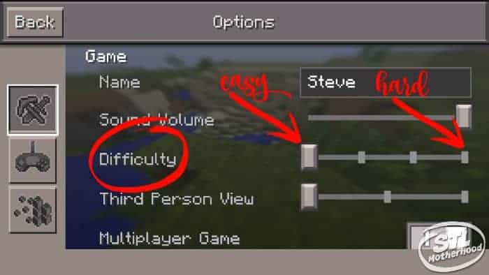 minecraft difficulty pe