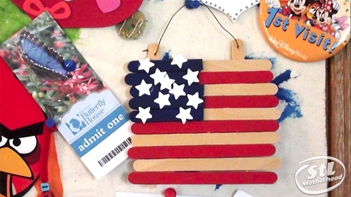 American flag popsicle
