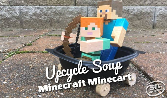 Make a Minecraft Minecart from Recycled Containers