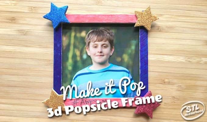 popsicle stick 3d frame