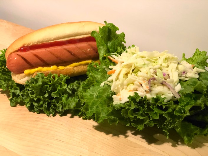 Hotdog with slaw