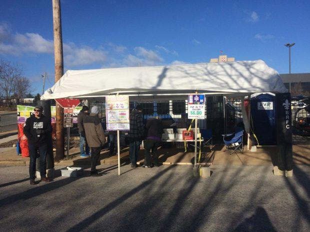 2017 StL Bombers Mardi Gras Booth
