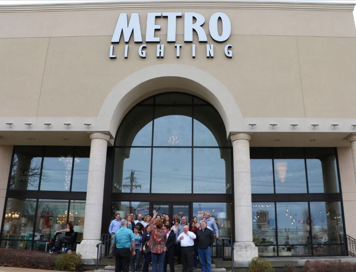 Chamber Of Commerce Ribbon Cutting Ceremony For Metro Lighting St & metro lighting st louis mo | Centralroots.com