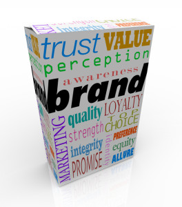 Brand Words on Box Package Branding Product