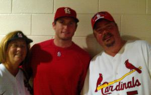 Tom and Robin with Freese Game 4 NLDS 2011