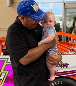 Ken Schrader and baby 2019