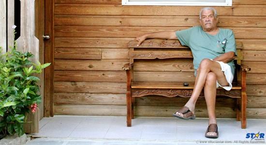 Nobel Laureate Derek Walcott in a scene from Poetry is an island.