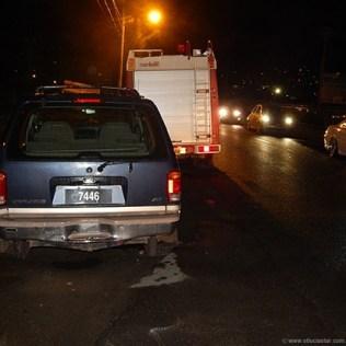 SUV involved in collision